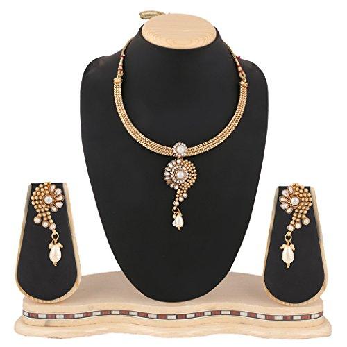 Pearl set bridal traditional imitation jewellery sets fashion necklace set BANE0327WH