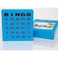 200-groe-Bingo-Karten-fr-Senioren-25-aus-75-15-x-15-cm 200 große Bingokarten für Senioren 25 aus 75 (blau) -