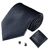 Xmiral Männer Klassische Krawatte Party Taschentuch Krawatte/Einstecktuch / Manschettenknöpfe 3 STÜCKE(C)