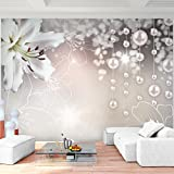 Fototapete Blumen Lilien - Vlies Wand Tapete Wohnzimmer Schlafzimmer Büro Flur Dekoration Wandbilder XXL Moderne Wanddeko - 100% MADE IN GERMANY - 9330010b