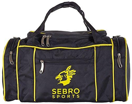 Praktische Sport-Tasche für Damen und Herren | Trendige GYM BAG mit vielen Fächern, Schultergurt, Tragegurt für Fitness, Sport und Reisen | SEBRO SPORTS