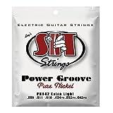 SIT Power Groove pure Nickel Jeu de cordes pour guitare électrique Tirant 9-42