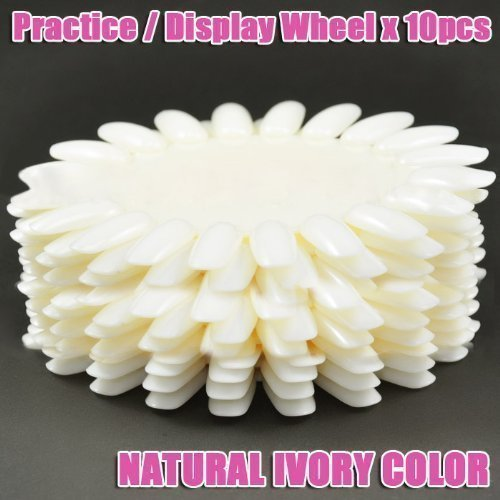 Display / Practice Wheel (Natural Ivory,Circle) x 10 CODE: #58 by Beauties (Circles Ivory)