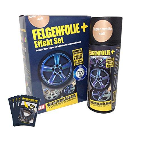 GENFOLIE+ Effekt Set, 2 x 400 ml, Kupfer-Metallic - Flüssiggummi Spray / Sprühfolie - Neue Effekt-Farbe und Schutz zum Felgen lackieren ()