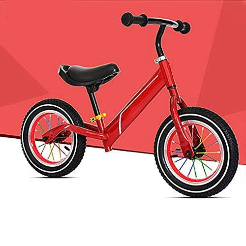 2-3 - 6 Jahre Alten Kind gleichgewicht Auto,Kinder der schiebe-Auto Baby Scooter Kostenloser fahrradverleih fuß Einstellbare Trainings-kleinkindfahrrad-Rot A 33.8Zoll