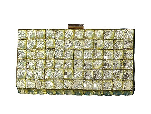 Home Minster Stone Finish Women Clutch by Home Minister (Gold)