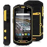 """Runbo Q5 - Smartphone libre 4G Lte (Pantalla 4.5"""", 16GB ROM, Cámara 13.0Mp, Android 5.1, Quad-Core 1.3GHz, Batería de 5000mAh, NFC), Negro"""