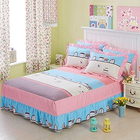 Rock Bettwäsche Baumwolle Tagesdecke koreanischen Version nur Bettwäsche Abdeckung der Bettwäsche Klinge des 200x220cm(79x87inch) D