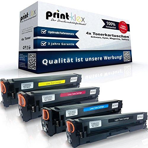 Print-Klex 4x Kompatible Toner für HP Color LaserJet Pro MFP M180n Color LaserJet Pro MFP M180Series Color LaserJet Pro MFP M181fw Schwarz Blau Rot Gelb - Office Pro Serie