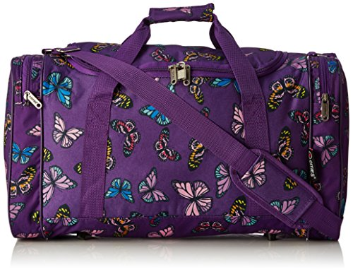 5-cities-lightweight-hand-luggage-cabin-sized-sports-duffel-holdall-butterflies-purple