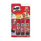 Pritt Barra Adhesiva, pegamento infantil seguro para niños para manualidades, cola universal de adhesión fuerte para estuche escolar y oficina, 2+1 x 22 g Pritt Stick