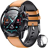 "AGPTEK Smartwatch Fitness Watch for Men Women with Replacement Strap Touchscreen 1.3"" Heart Rate Monitor"