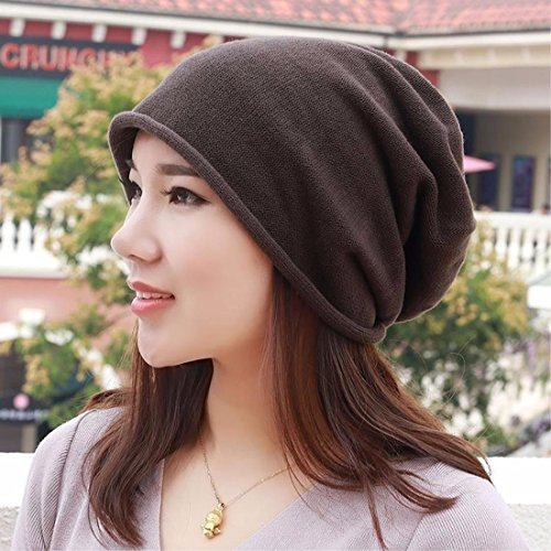 LIUXINDA-MZ Pure cotton hat, knitted hat, shaved head scarf cap and pregnant ear cap for men and women in spring,blue