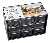 #7: Km Japan Black Acrylic Box Drawers For Jewellery