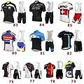 Sport Herren Fahrradbekleidung Fahrrad-kurze Hülse Jersey + Bib Shorts Anzug Sportwear
