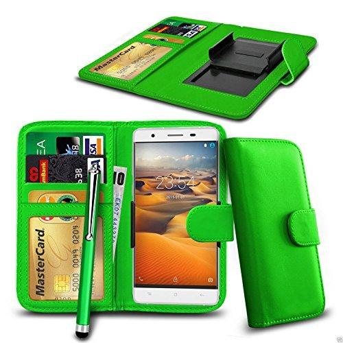 fürN4U Online - Clip On Kunstleder Hülle Tasche & Eingabestift ZTE Blade V7 Lite - verschiedene Farben - Grün