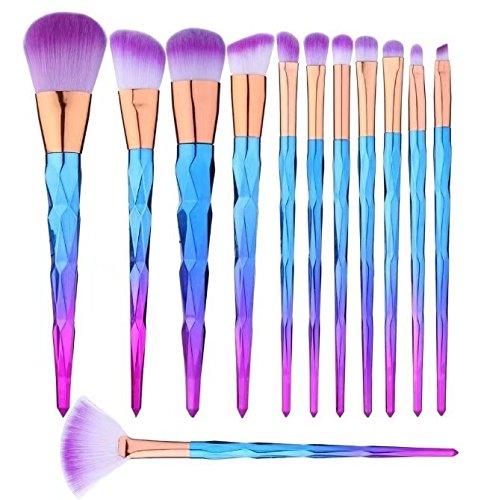 12pcs Einhorn Makeup Pinsel Set, Pulver Foundation Rouge Lidschatten Blending Pinsel