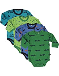 Pippi Body Ls Ao-printed (4-pack) - Polo Niños