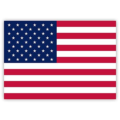 HouseholdBasics 2 x Aufkleber USA-Flagge/Amerika-Fahne, 7,4 x 5,2 cm für Innen und außen