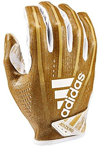 adidas AF1001 Adizero 7.0 Speed of Light Receiver's Gloves, Metallic Gold, X-Large