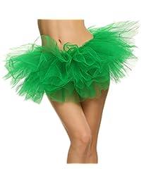 Landove Mini Gonna Tulle Donna Ragazza Danza Abito Ballerina Ballo Organza  Pizzo Layered Vestito Principessa Partito bf73a900b0ff