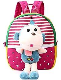Preisvergleich für Meedot 3D abnehmbare Welpen Puppe Kleinkind Kinder Rucksack Prewalker Baby Tier Mini Vorschule Tasche