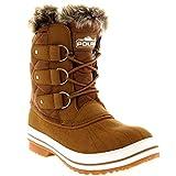 Polar Womens Snow Boot Quilted Short Winter Snow Rain Warm Waterproof Boots - 4 - TAS37 YC0019