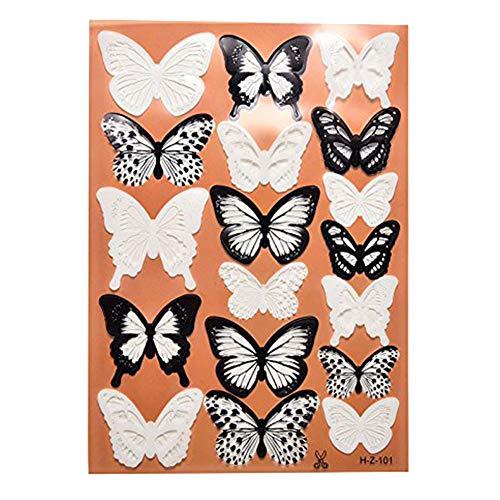 Trifycore 18pcs 3D-Schmetterlings-Wand-Aufkleber-Wand Abnehmbare Sticker für Wohnzimmer-Dekor-Raum,...