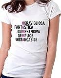 t-Shirt Mamma Meravigliosa, Fantastica, comprensiva - Ideale per la Festa della Mamma - Maglietta by tshirteria