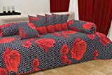 #8: Choice Homes ™ Cotton diwan Set 8 Pieces of Combo 5 Cousins 2 Bolster Cover with Single bedsheet(Multicolour)