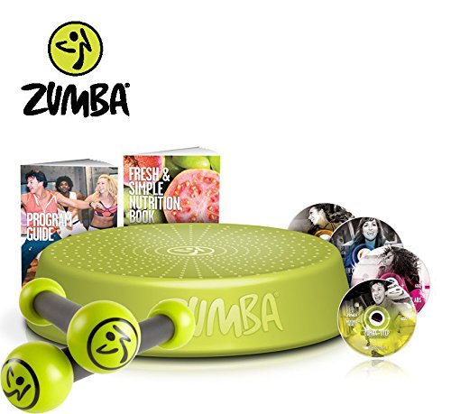 Zumba Fitness Incredible Results DVD-Set + Zumba Step Rizer + Zumba Fitness Toning Sticks 0,5 kg im Set | Zumba, das revolutionäre Fitnessprogramm - tanzen Sie sich zur Traumfigur!