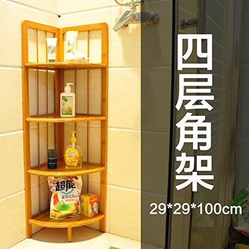 Nan bamboo angolo cucina per montaggio a rack solido treppiede soffitto in legno staffa ad angolo Mensola per bagno-Tier 4 , E-mail di livello pacchetto staffa ad angolo