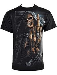 Spiral Direct Bone Finger T Shirt (Noir)