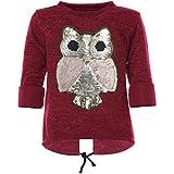 BEZLIT Mädchen Pullover Wende-Pailletten Sweatshirt 21584, Farbe:Rot, Größe:152