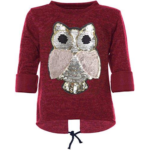BEZLIT Mädchen Pullover mit Wende Pailletten Sweatshirt 21584, Farbe:Rot, Größe:152