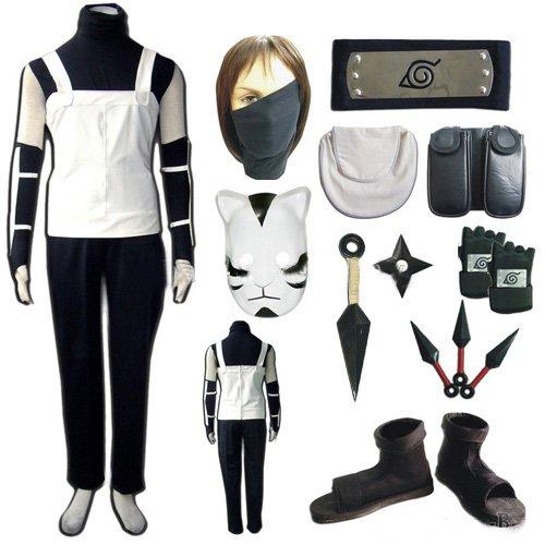ime Naruto Kakashi Anbu Cosplay Neues Outfit, Größe M ( Alle Größe Sind Wie Beschreibung Gesagt, überprüfen Sie Bitte Die Größentabelle Vor Der Bestellung ) (Anbu Cosplay Kostüm)