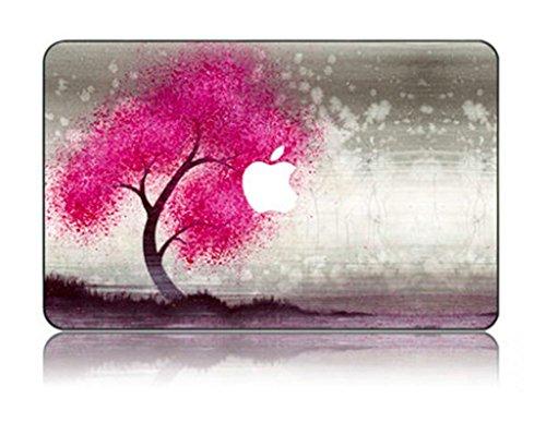 e Kollektion Hochwertige Ultra Dünn Vorderseite Aufkleber Removeable Top Abziehbild Für MacBook Pro 15 Zoll mit CD/DVD Laufwerk (Modell: 1286) (Rosiger Baum) ()