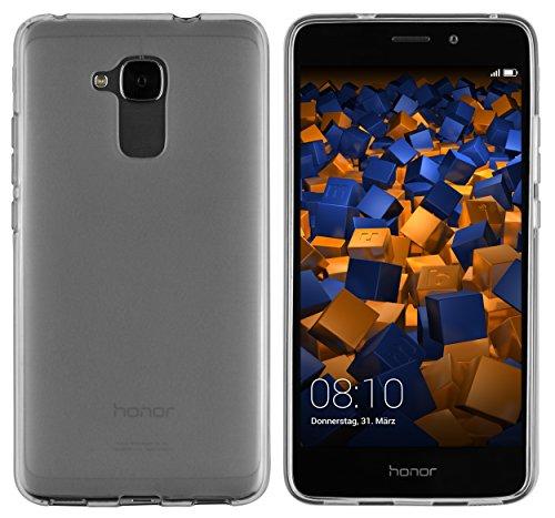 mumbi Schutzhülle für Huawei Honor 5C Hülle transparent schwarz