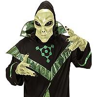 Máscara látex extraterrestre Careta alien con capucha y ojos Careta hombre de Marte Fiesta temática espacio extraterrestre Antifaz carnaval marciano Disfraz OVNI