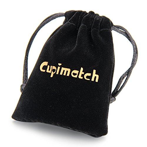 Cupimatch - 4 piezas - Pulsera para hombre de cuero trenzado con cierre a presión - Brazalete de Punk Rock.