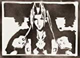 Poster Sephiroth Final Fantasy Handmade Graffiti Street Art - Artwork