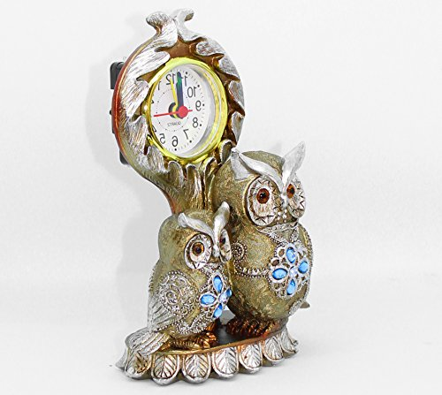 TiedRibbons® Owl Shaped Showpiece Clock For Diwali Home Decoration |  Decorative Items For Office | Showpieces For Living Room ... Part 55