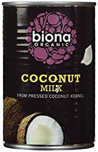 Biona Organic Coconut Milk 400 ml (Pack of 6)