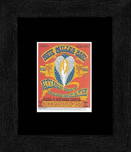 San Diego Band (Stick It On Your Wall Steve Miller Alexander 's Zeitloses Blooze Band-Hippodrom San Diego 1968gerahmtes Mini Poster-20x 18cm)