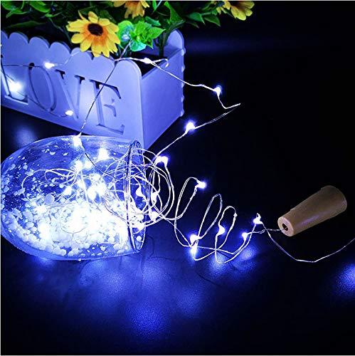 Blau 2M 20LDES Silberdraht USB LED Schnur beleuchtet wasserdichte Feiertagsbeleuchtung für feenhaften Weihnachtsbaum Haloween Hochzeitsfest-Dekor