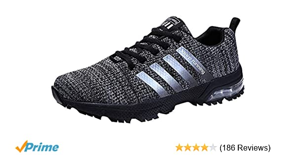 35ca27726010 Women Men Casual Sports Running Shoes Air Trainers Jogging Fitness Shock  Absorbing Gym Athletic Sneakers  Amazon.co.uk  Shoes   Bags