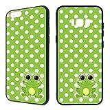 Handyhülle Punkte Samsung Silikon Süß Smiley Schleife Biene Frosch Kinder Sterne, Handy:Samsung Galaxy S7 Edge, Hüllendesign:Design 4 | Silikon Schwarz