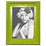 WOLTU Bilderrahmen Foto Galerie Bild Rahmen Bilder Collage Barock 6 Farben in 5 Größen (Grün, 13X18)