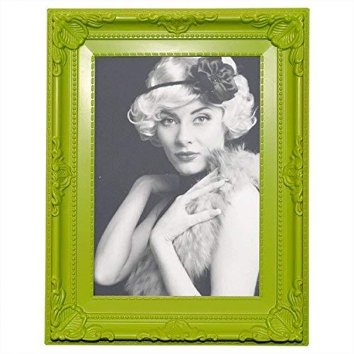 Woltu cornice foto design barocco portafoto in plastica 15x20 cm verde