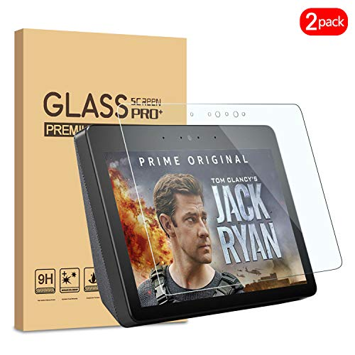 KATIAN [2 Pack] Screen Protector for All-New Echo Show (2nd Gen), 9H High-Definition Tempered Glass [Anti-Bubble] Protective Film Cover with Amazon Echo show 2